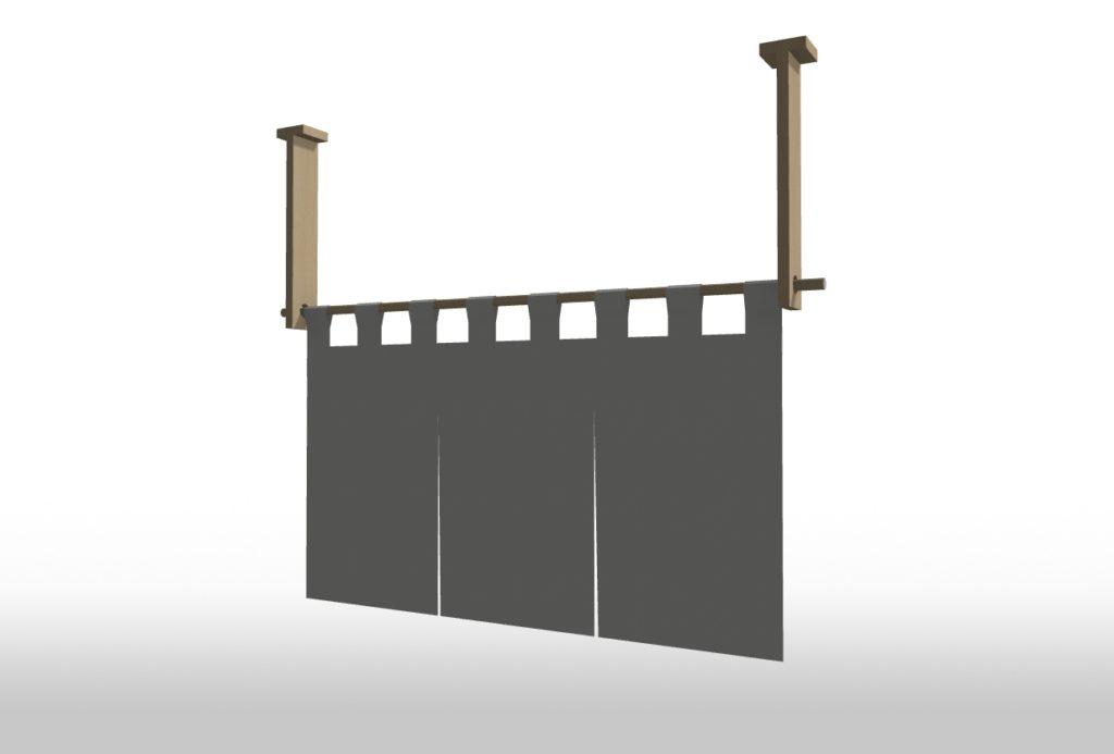 3Dマイホームデザイナーで作成した連暖簾