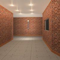 シンコールの壁紙リピート画像を使って3Dマイホームデザイナーで作成したおしゃれな理容院のパース
