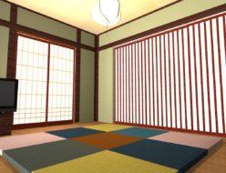 カラー置き畳のある和室