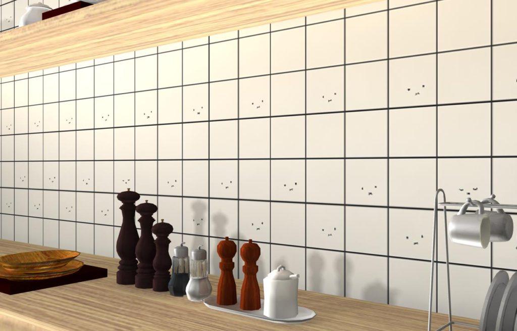 【施工事例写真だけでは伝わりにくいミッフィ壁紙のかわいさも、3Dパースならアップで見せられる。】