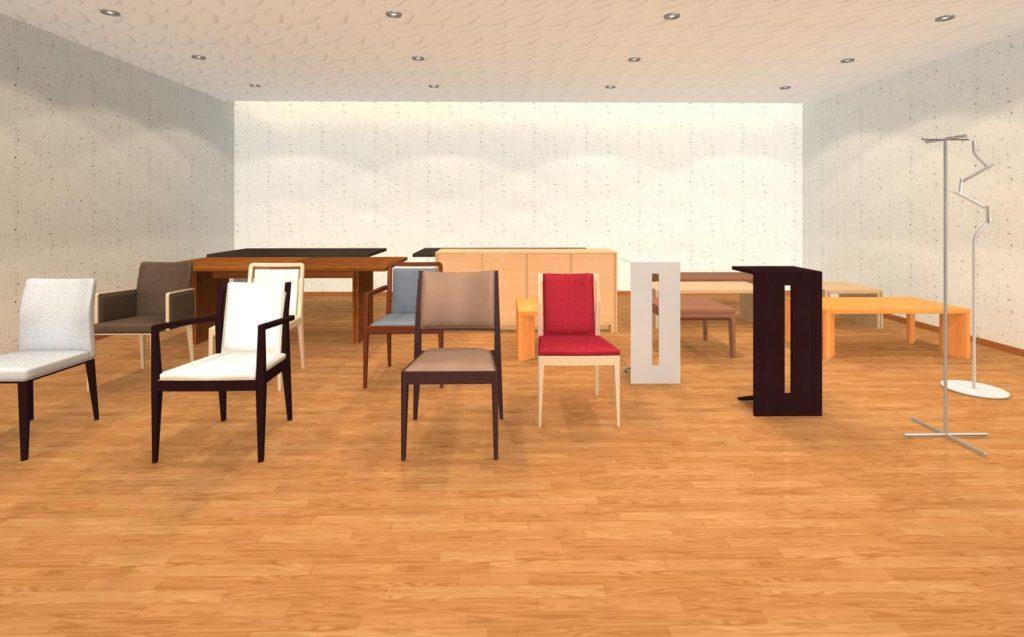 2021年7月28日に追加されたフレイスの家具一覧パース