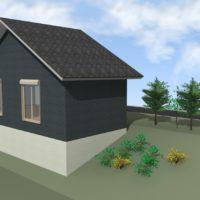 3Dマイホームデザイナーで傾斜地に建つ家を作る