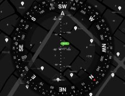 【Commander Compass GOにGoogleマップを表示させている。】