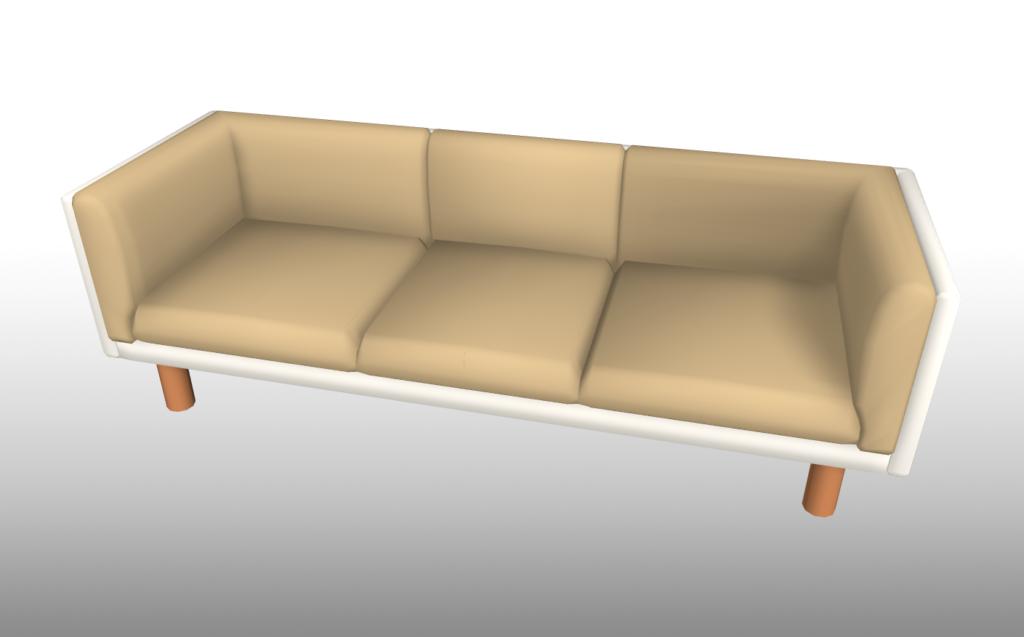 【座面取りに使うための、収録されている3D素材の一例】