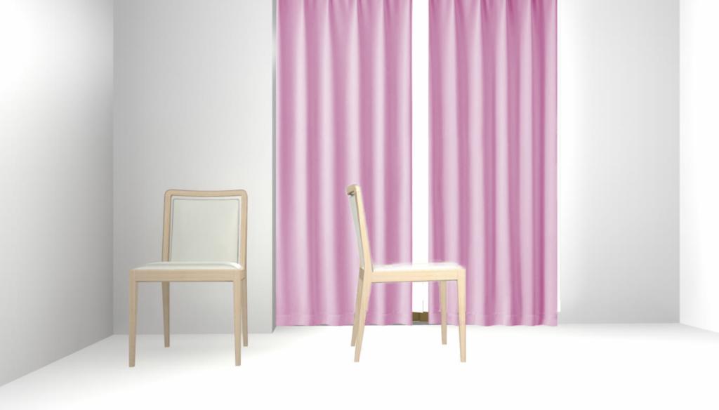 カーテンの色を変えてみました